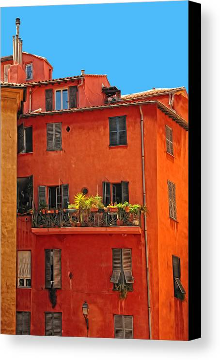 Provence Canvas Print featuring the photograph Color In Provence by Dave Mills