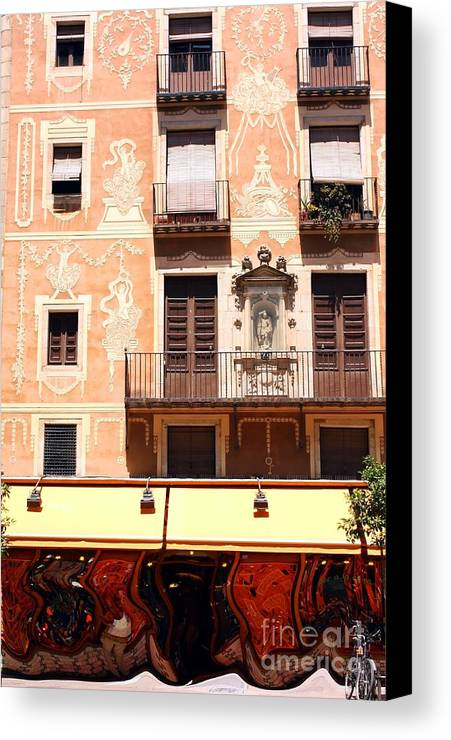 Barcelona Canvas Print featuring the photograph Downtown Barcelona by Sophie Vigneault