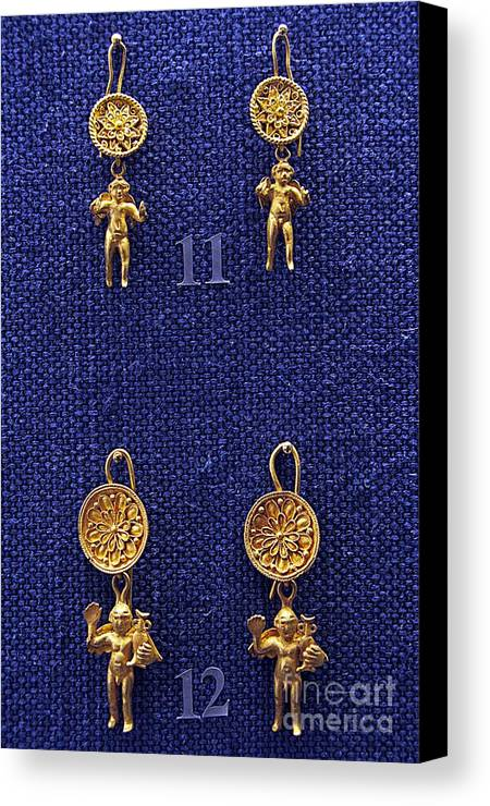 Erotes Earrings Canvas Print featuring the photograph Erotes Earrings by Andonis Katanos
