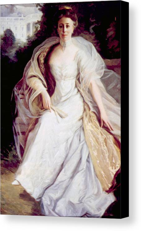 First Lady Canvas Print featuring the photograph Helen Taft 1861-1943, First Lady by Everett