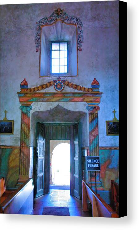 Interior Canvas Print featuring the photograph Inside Mission Santa Barbara by Steven Ainsworth