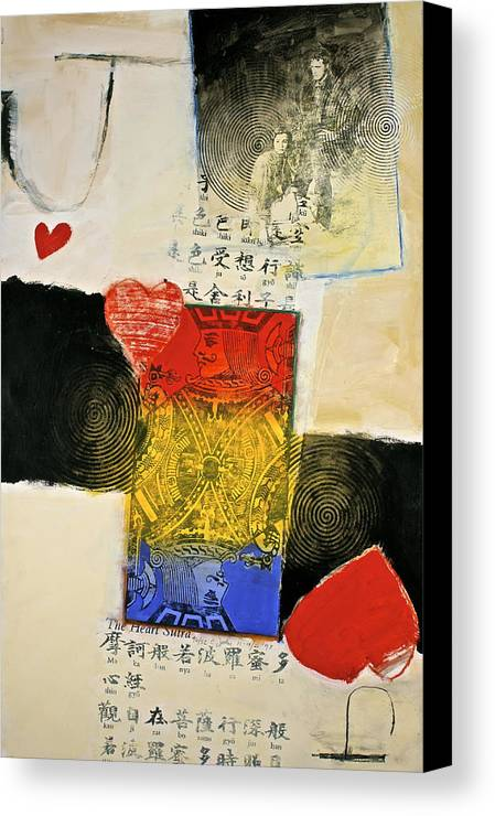 Acrylic Canvas Print featuring the painting Jack Of Hearts 46-52 by Cliff Spohn