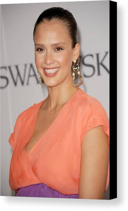 Jessica Alba Canvas Print featuring the photograph Jessica Alba At Arrivals For The 2011 by Everett