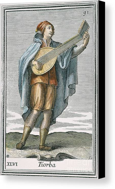 1723 Canvas Print featuring the photograph Lute, 1723 by Granger