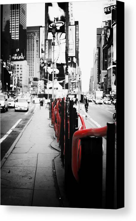 New York Times Square Black And White Photography With Color - Black and white photography with color accents