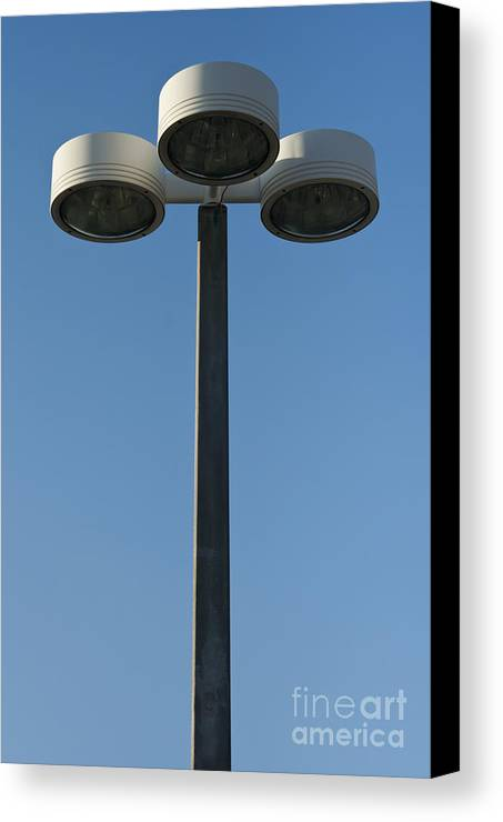 Lamp Canvas Print featuring the photograph Outdoor Lamp Post by Blink Images