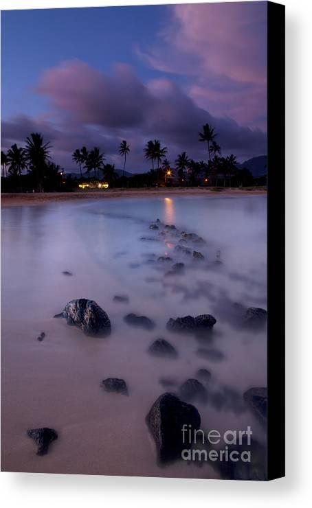 Poipu Canvas Print featuring the photograph Poipu Evening Storm by Mike Dawson