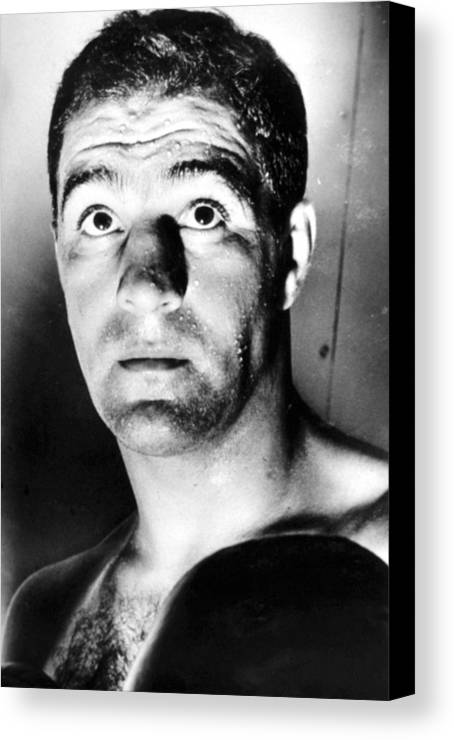 1950s Portraits Canvas Print featuring the photograph Rocky Marciano, 1950s by Everett