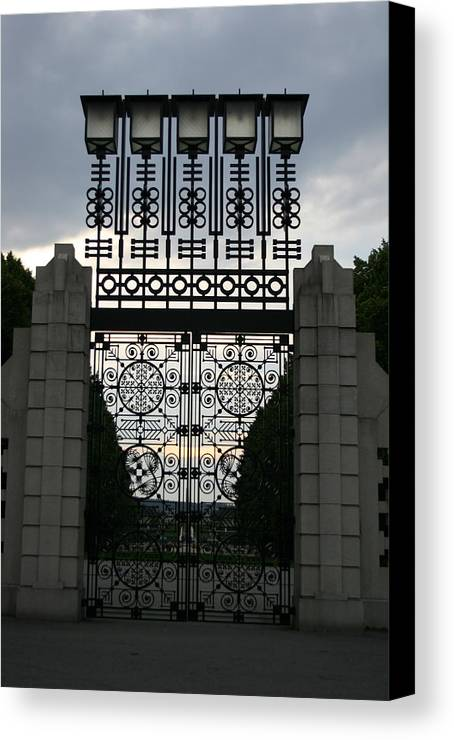 Gate Canvas Print featuring the photograph The Gate by Nina Fosdick