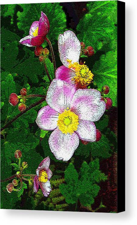 Flower Canvas Print featuring the photograph Tropical Pinks by Mindy Newman
