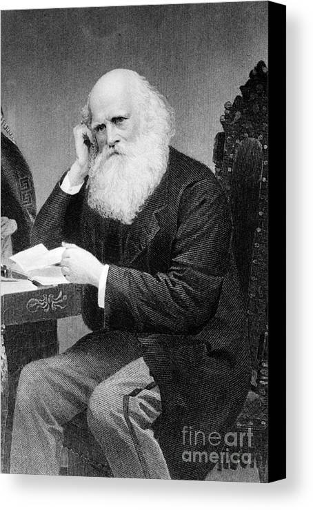 History Canvas Print featuring the photograph William Cullen Bryant, American Poet by Photo Researchers
