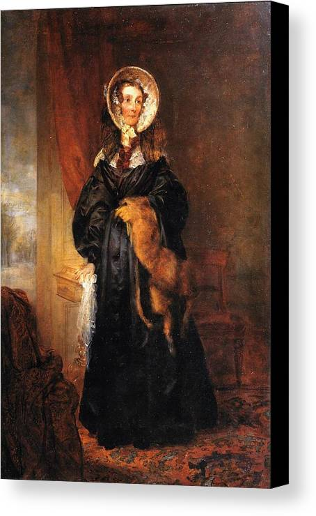 George Frederic Watts 1817�1904  Miss Mary Kirkpatrick Brunton Canvas Print featuring the painting Miss Mary Kirkpatrick Brunton by George Frederic