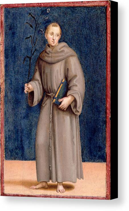 Raphael Canvas Print featuring the painting Saint Anthony Of Padua by Raphael