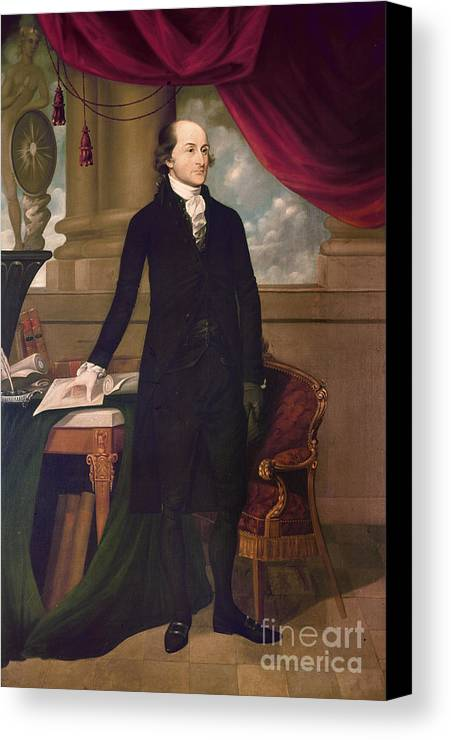 1782 Canvas Print featuring the photograph John Jay (1745-1829) by Granger