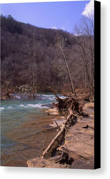 Canvas Print featuring the photograph Long Pool Log Jam by Curtis J Neeley Jr