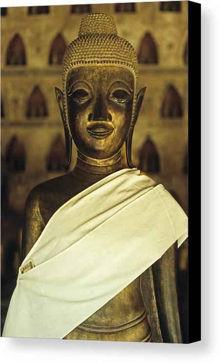 Asia Canvas Print featuring the photograph Buddha by Maria Heyens