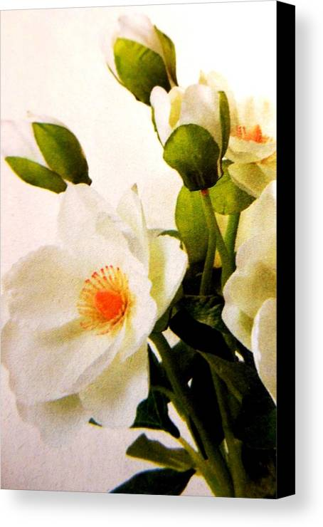 Flowers Canvas Print featuring the photograph Flowers by Lord Frederick Lyle Morris