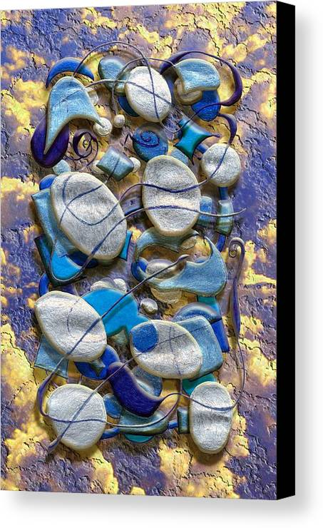 Abstract Canvas Print featuring the digital art An Arrangement Of Stones by Mark Sellers