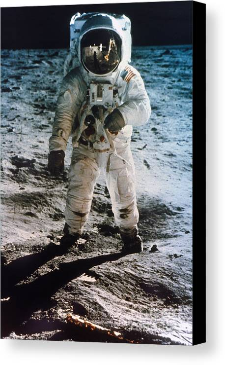 1969 Canvas Print featuring the photograph Apollo 11: Buzz Aldrin by Granger