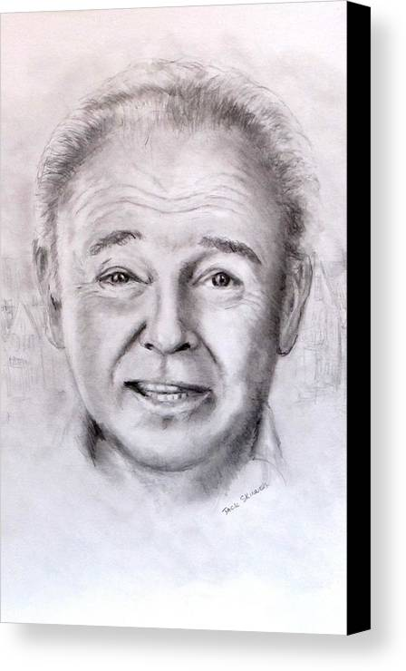 Archie Bunker Canvas Print featuring the drawing Archie by Jack Skinner