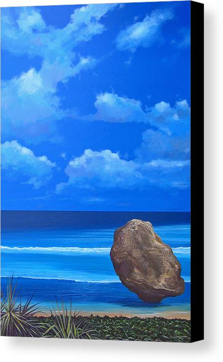Barbados Canvas Print featuring the painting Bathsheba by Hunter Jay