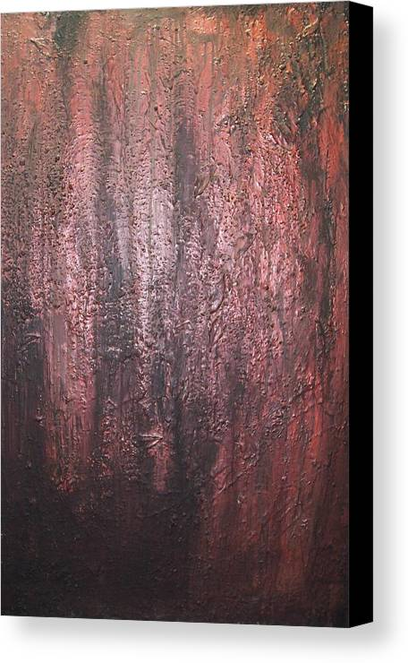 Abstract Canvas Print featuring the painting Black No 1 by Elizabeth Klecker