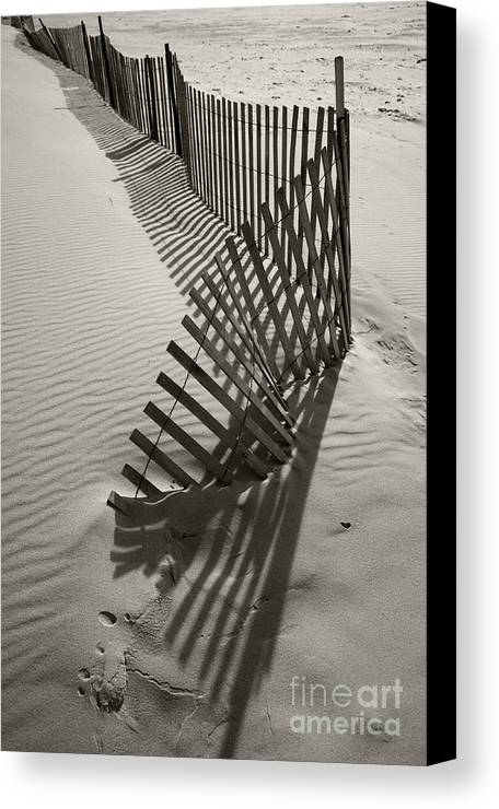 Snow Fencing Canvas Print featuring the photograph Buried by Timothy Johnson
