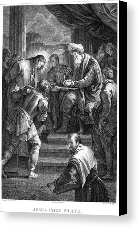 18th Century Canvas Print featuring the photograph Christ Before Pilate by Granger
