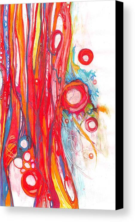 Fire Canvas Print featuring the drawing Circles 13 by Christina Naman
