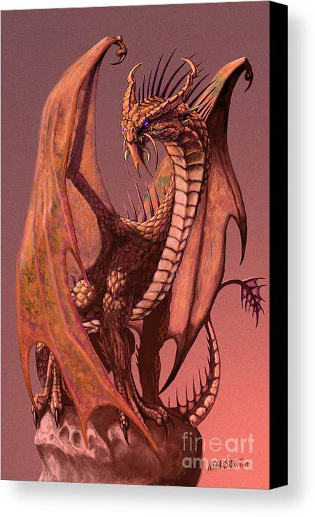 Dragon Canvas Print featuring the digital art Copper Dragon by Stanley Morrison