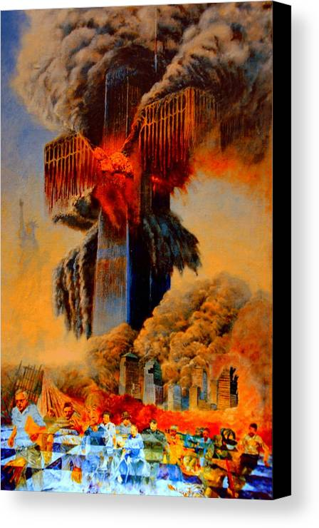 Henryk Canvas Print featuring the painting Cross Of The Third Millennium by Henryk Gorecki