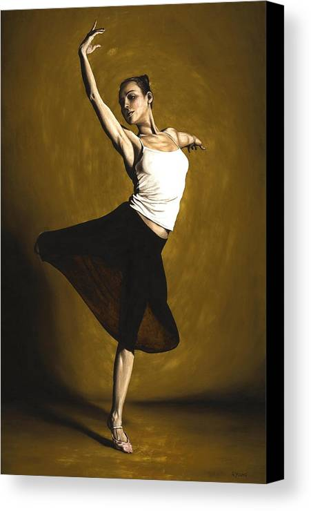 Elegant Canvas Print featuring the painting Elegant Dancer by Richard Young