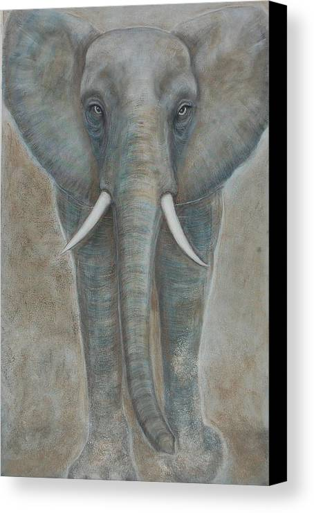 Elephant Canvas Print featuring the painting Elephant by Isabelle Ehly