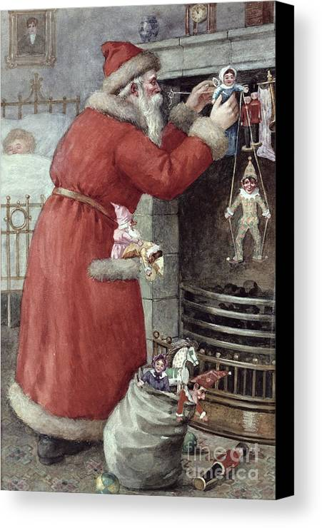 Father Canvas Print featuring the painting Father Christmas by Karl Roger