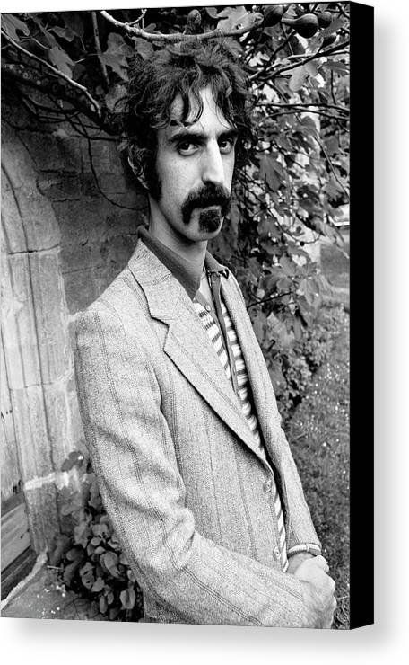 Frank Zappa Canvas Print featuring the photograph Frank Zappa 1970 by Chris Walter
