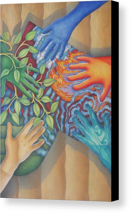 Nature. Love Canvas Print featuring the painting Healing Hands Of Love by Jeniffer Stapher-Thomas
