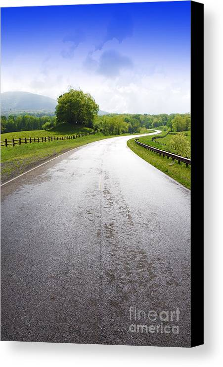 Highland Scenic Highway Canvas Print featuring the photograph Highland Scenic Highway Route 150 by Thomas R Fletcher