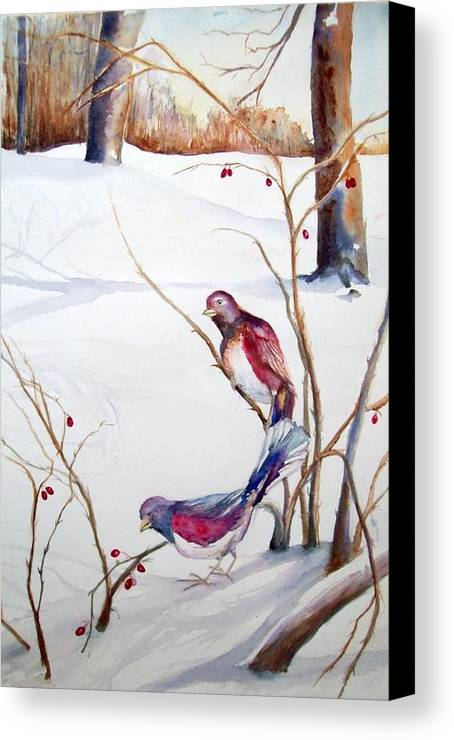 Winter Canvas Print featuring the painting Home by Laura Rispoli