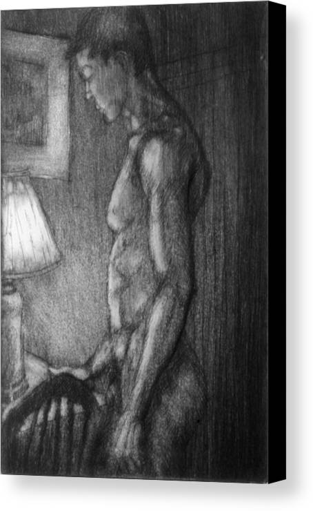 Man Canvas Print featuring the drawing Incandescent by John Clum