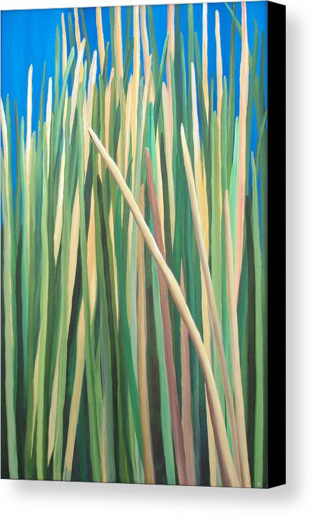 Grass Canvas Print featuring the painting Ire-land by Amanda Jordan