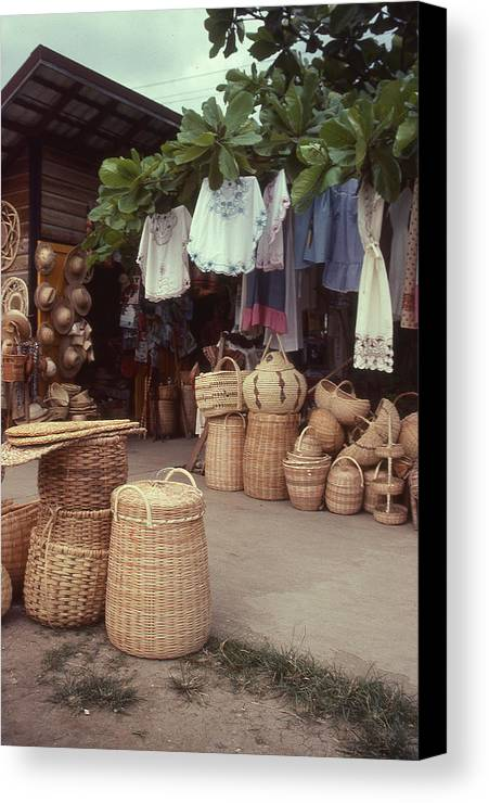 Market Canvas Print featuring the photograph Jamaican Market by David Pettit