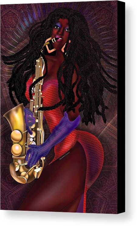 Beauty Canvas Print featuring the digital art Jazzy Mama by Robina Kaira