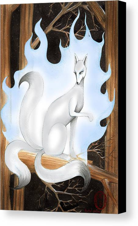 Japan Canvas Print featuring the painting Kitsune by Rachel Walker