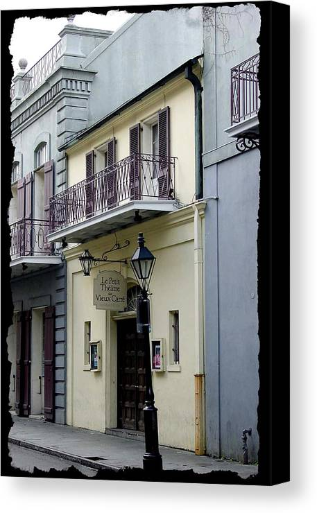 New Orleans Canvas Print featuring the photograph Le Petit Theatre by Linda Kish