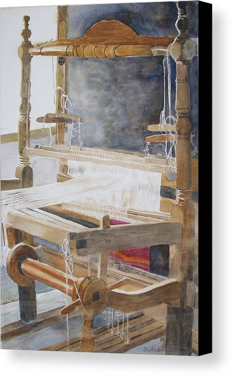 Loom Canvas Print featuring the painting Legacy by Ally Benbrook
