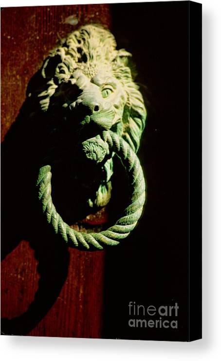 Venice Canvas Print featuring the photograph Lion Door Knocker In Venice by Michael Henderson