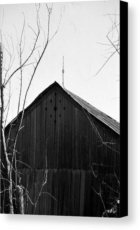 Ansel Adams Canvas Print featuring the photograph lloyd-shanks-barn-1BW by Curtis J Neeley Jr
