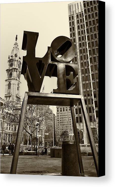 Love Canvas Print featuring the photograph Love Philadelphia by Jack Paolini