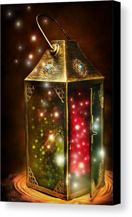 Digital Painting Canvas Print featuring the digital art Magic Lantern by Laurie Hasan