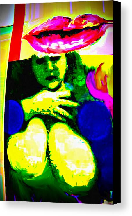 Human Composition Canvas Print featuring the digital art Mango by Noredin Morgan